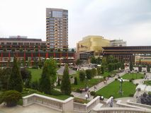 Palas mall garden in Iasi Royalty Free Stock Photography