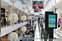 Palas Mall luxury shopping center interior Stock Photography