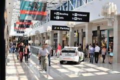 Shopping street inside Palas luxury mall Stock Image
