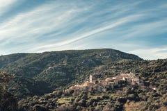 Palasca古老山村在科西嘉 库存照片