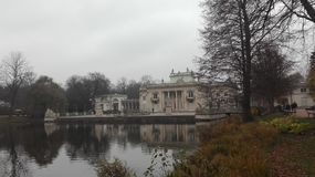 Palast auf dem Wasser, Warschau Stockfoto
