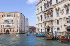 Palast Balbi auf Grand Canal Venedig Italien stockbild