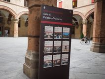 Palast D Accursio (Rathaus) im Bologna Stockfoto