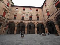 Palast D Accursio (Rathaus) im Bologna Lizenzfreie Stockbilder