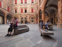 Palast D Accursio (Rathaus) im Bologna Lizenzfreies Stockfoto