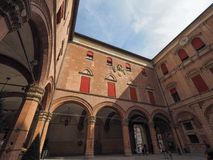 Palast D Accursio (Rathaus) im Bologna Lizenzfreie Stockfotografie