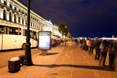 Palast-Damm nachts Lizenzfreies Stockfoto