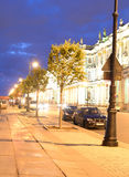 Palast-Damm nachts Stockfotografie
