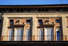 Palast der Bänke in der Stadtmitte im Bologna (Italien) Stockfotografie