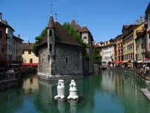 Palast der Insel, Annecy Franc Lizenzfreies Stockfoto