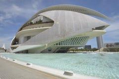 Palast der Künste, Valencia stockbild
