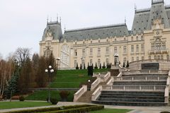 Palast der Kultur in Iasi, Rumänien stockbild