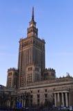 Palast der Kultur und der Wissenschaft in Warschau Stockfotos