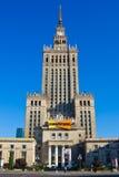 Palast der Kultur und der Wissenschaft in Warschau. Stockbilder