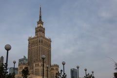 Palast der Kultur und der Wissenschaft in Warschau Lizenzfreie Stockbilder