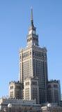 Palast der Kultur und der Wissenschaft in Warschau, Polen Lizenzfreie Stockbilder