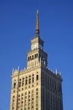 Palast der Kultur und der Wissenschaft in Warschau, Polen Stockbild