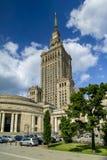Palast der Kultur und der Wissenschaft in Warschau, Polen Stockfotos