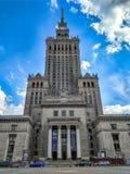 Palast der Kultur und der Wissenschaft in Warschau, Polen Stockfotografie