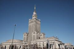 Palast der Kultur in Warschau lizenzfreie stockfotografie