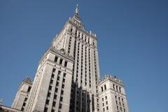 Palast der Kultur in Warschau Lizenzfreies Stockbild