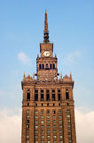 Palast der Kultur in Warschau 2 Stockbilder