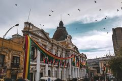 Palast der Regierung in La Paz, Bolivien lizenzfreie stockfotografie
