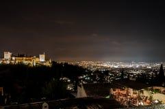 Palast des Alhambras in Granada Lizenzfreie Stockfotos