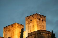 Palast des Alhambras in Granada Stockfotos