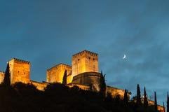 Palast des Alhambras in Granada Lizenzfreies Stockbild