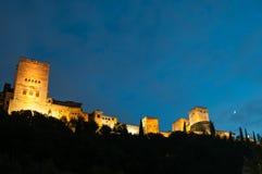 Palast des Alhambras in Granada Stockbilder