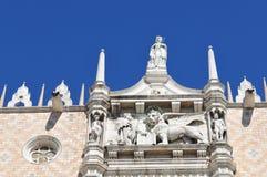Palast des Doges, Venedig stockbild