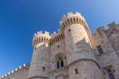 Palast des Grandmaster - Rhodos Stockfotografie