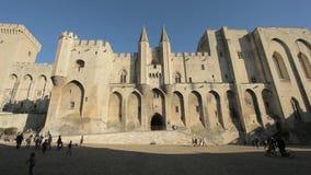 Palast des Papstes in Avignon, Frankreich stock video footage