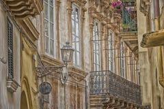 Palast Doxi Stracca Fontana in der alten Stadt von Gallipoli (Le) Stockbilder