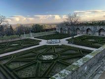 Palast-Gärten EL Escorial Stockfoto