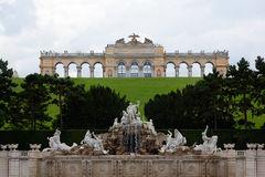 Palast-Garten Gloriette Schonbrunn, Wien, Österreich Stockbild