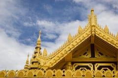 Palast Kamboza Thadi, Kanbawzathadi-Palast auf Myanmar Stockfotografie