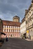 Palast-Kirche und Turm in Bayreuth, Deutschland, 2015 Lizenzfreie Stockbilder