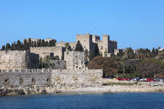 Palast of the knights in Rhodes, Greece. The palace of the knights in Rhodes town, Greece Royalty Free Stock Photo