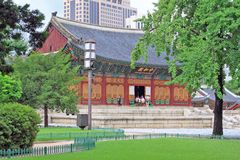 Palast Koreas Deoksugung Stockbild