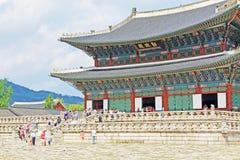 Palast Koreas Seoul Gyeongbokgung, Geunjeongjeon Stockbild