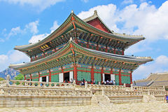 Palast Koreas Seoul Gyeongbokgung, Geunjeongjeon Lizenzfreies Stockbild