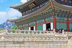 Palast Koreas Seoul Gyeongbokgung, Geunjeongjeon Stockfoto