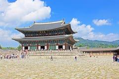 Palast Koreas Seoul Gyeongbokgung, Geunjeongjeon Stockbilder