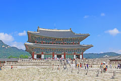 Palast Koreas Seoul Gyeongbokgung, Geunjeongjeon Lizenzfreie Stockfotografie