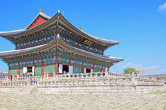 Palast Koreas Seoul Gyeongbokgung, Geunjeongjeon Stockfotos