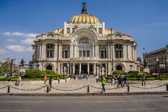 Palast in Mexico City. Beautiful palace in the middle of mexico city Royalty Free Stock Photos