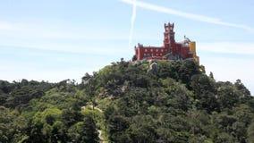 Palast Palacio Nacional DA Pena Pena, Sintra stock video