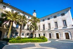 Palast Palazzo Borromeo Borromean auf Isola Bella Bella Island Lizenzfreie Stockfotografie